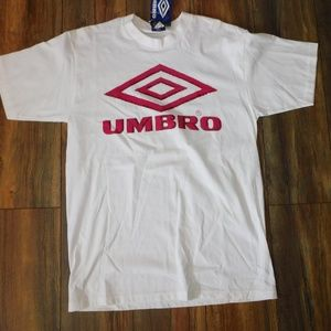 NWT Umbro Spell-Out Large White T-Shirt